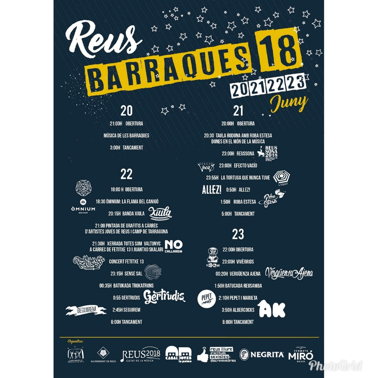Barraques de Festa Major 2018